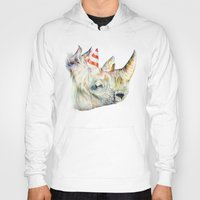 party Hoodies featuring Rhino's Party by Brandon Keehner