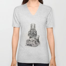 Tribute to Gaudi Unisex V-Neck