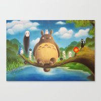 ghibli Canvas Prints featuring Ghibli Compilation  by KalaElizabeth
