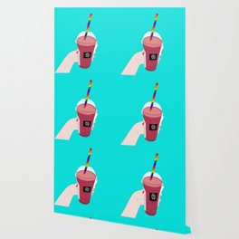 Salted Caramel Raspberry Ice Frappe Wallpaper