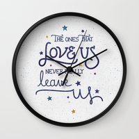 snape Wall Clocks featuring Never leave us by Earthlightened