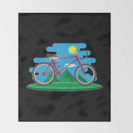 Cycling Forever | Bicycle Enthusiast Throw Blanket