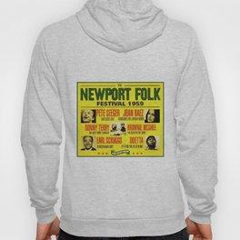 Rare First Year 1959 Newport Folk Festival Advertisement Poster Hoody