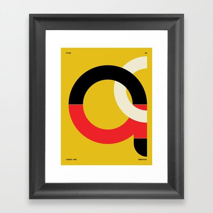 El Cairo — City Series Framed Art Print