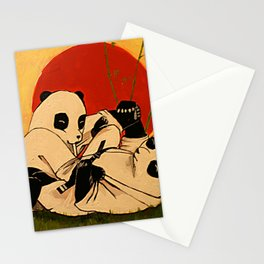 JIU JITSU PANDAS Stationery Cards