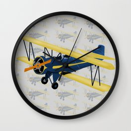 Bi-Plane - Fleet Model Wall Clock