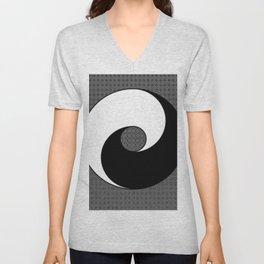 B&W YIN & YANG Taoism/Daoism ART Unisex V-Neck