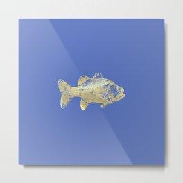 periwinkle goldfish Metal Print