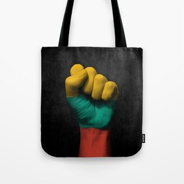 Lithuanian Flag on a Raised Clenched Fist Tote Bag