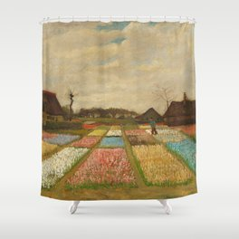 Tulip Bulb Fields by Vincent van Gogh Shower Curtain