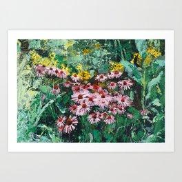 Coneflowers  Garden Art Print