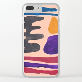 33  190330 Abstract Shapes Painting Clear iPhone Case