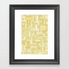 Golden Doodle weave Framed Art Print