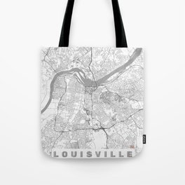 Louisville Map Line Tote Bag