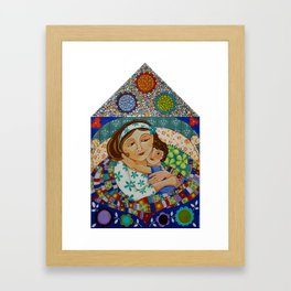 """Me, My Son And An Old Blanket"" Framed Art Print"