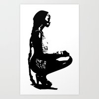 Beautu 2 Long Braid Art Print