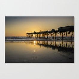 Wall Art  Glow of the Sunrise over Daytona Beach Shores Pier Canvas Print