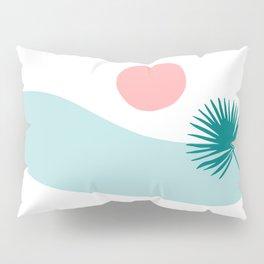 Tropical Beach, Minimalist Abstract Illustration Pillow Sham