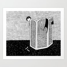 Dressing room Art Print