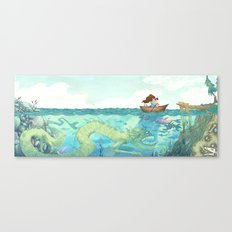 The Lake of Lurking Monsters Canvas Print