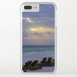 Beach Chairs Clear iPhone Case