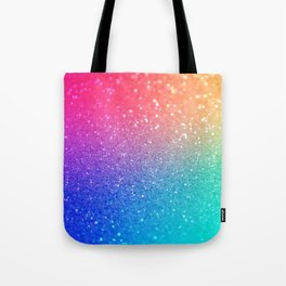 Glitter Rainbow Mermaid Sparkle Ombre Tote Bag