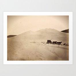 Sand Dunes of the Carson Desert, Nevada Art Print