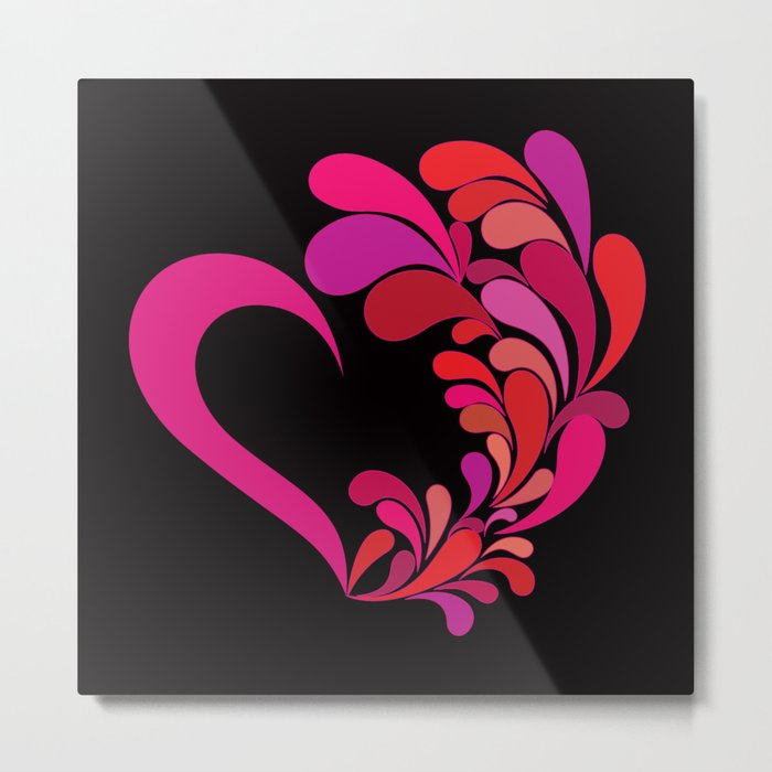 Colored heart Metal Print