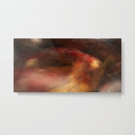 Multiple long exposure abstract of Koi swimming in a still pond Metal Print