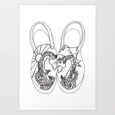 GiraffeLove Art Print
