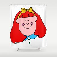 redhead Shower Curtains featuring Redhead Rules by 2cute