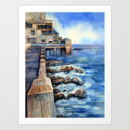Walking with Steinbeck on Cannery Row Art Print