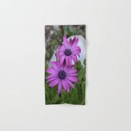 Purple and Pink African Daisy Flowers Hand & Bath Towel