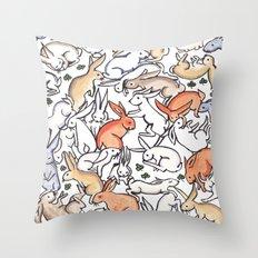Colour Bunny Pattern Throw Pillow