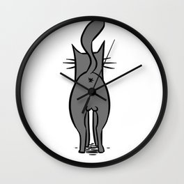 Cat Butt Wall Clock