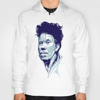 tom waits Hoodies featuring Tom Waits Portrait by Brian Yap