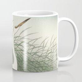 Three herons in the water and the moon - Vintage Japanese Woodblock Print Coffee Mug