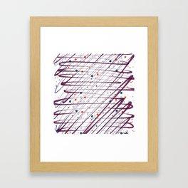 Maroon Splatter Pattern Framed Art Print