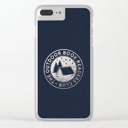 Outdoor Book Readers Club badge Clear iPhone Case