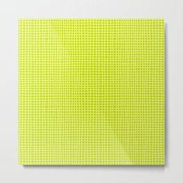 Fresh Lime Grid Metal Print