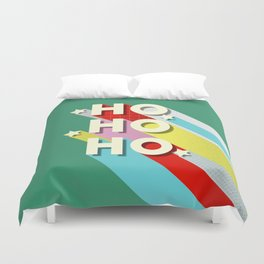 Christmas typography Duvet Cover