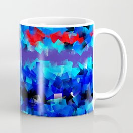 Blue lights and red birds Coffee Mug
