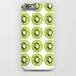 kiwi pattern grid, fill, repeating, tiled | elegant iPhone Case
