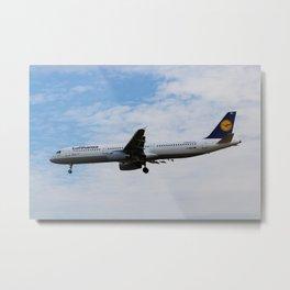 Lufthansa Airbus A321 Metal Print