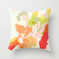 jessica lange Throw Pillows featuring Jessica by Patricia Vargas