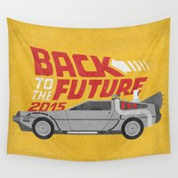 future Wall Tapestries featuring The future is coming by Beardy Graphics