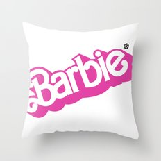 Barbie Girl Throw Pillow