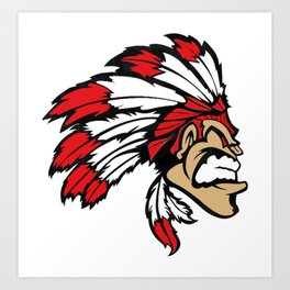 American indian man. Mascot. Kentucky. Art Print