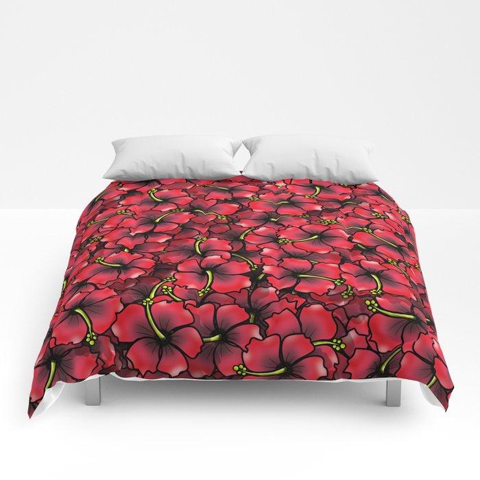 Hibiscus Comforters