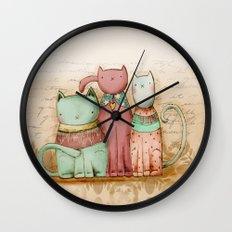 Three Friends Wall Clock